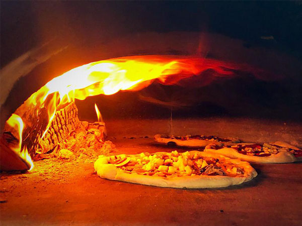Pop up wood fired pizzas